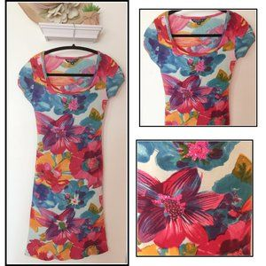 Floral Short Sleeve Dress by Chaudry FC